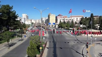 23 Nisan Ulusal Egemenlik ve Çocuk Bayramı'nda cadde ve sokaklar sessiz kaldı