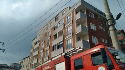 KOCAELİ - Bir apartmanda çıkan yangın söndürüldü