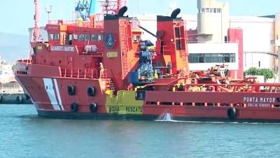 MADRİD - İspanya'nın Castellon Limanı'ndaki Türk gemisi yükleme sırasında battı
