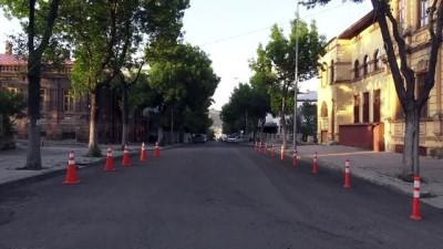 KARS - Sokağa çıkma kısıtlaması nedeniyle sessizlik hakim