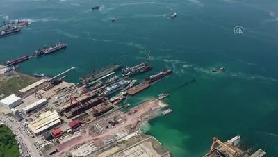 YALOVA - Marmara Denizi'ndeki müsilaj havadan görüntülendi
