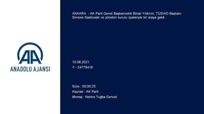 ANKARA - AK Parti Genel Başkanvekili Yıldırım, TÜSİAD heyetini kabul etti