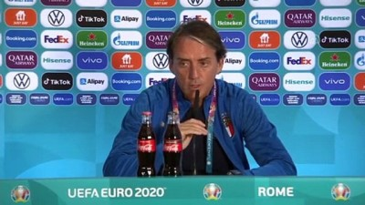 ROMA - İtalya Teknik Direktörü Roberto Mancini soruları cevapladı