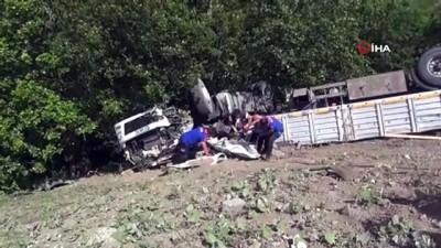 Büyükbaş kurbanlık hayvan taşıyan tır devrildi: 1 kişi hayatını kaybetti