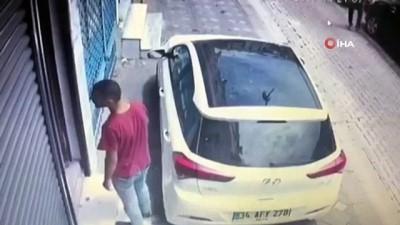 Zeytinburnu'ndaki soğukkanlı hırsız kamerada