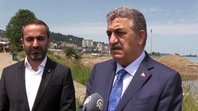 RİZE - AK Parti Genel Başkan Yardımcısı Yazıcı, Rize'de Millet Bahçesinin yapıldığı alanda incelemelerde bulundu