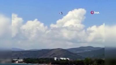 Mecburi iniş yapan uçak bir süre önce böyle görüntülenmiş: 'Eyvah eyvah düşecek'