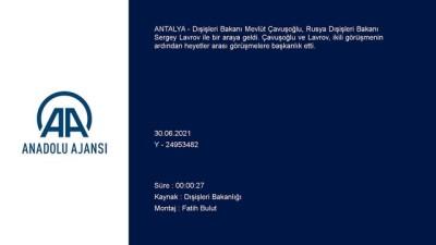 ANTALYA - Çavuşoğlu ve Lavrov, heyetler arası görüşmelere başkanlık etti