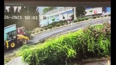 İş makinesinin karıştığı kazada 1 kişi ölmüştü, o kazanın güvenlik kamera görüntüleri ortaya çıktı