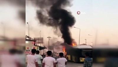 Diyarbakır'da şehiriçi toplu taşıma aracında korkutan yangın
