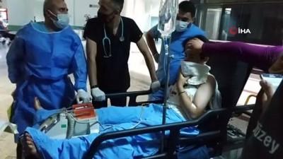 Karga kovalamak isterken ses fişeği ile kazara kendini vuran kız ağır yaralandı