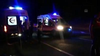 MALATYA - Şarampole devrilen yolcu otobüsündeki 5 kişi yaralandı