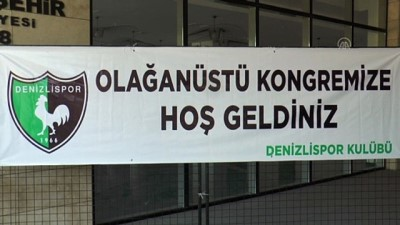 DENİZLİ - Denizlispor'da seçimli olağanüstü genel kurul 3 Ağustos'a ertelendi