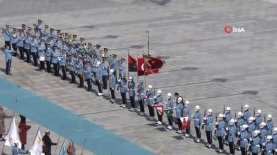 Cumhurbaşkanı Erdoğan, Angola Cumhurbaşkanı Laurenço'yu resmi törenle karşıladı