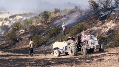 ADANA - Sarıçam'da çıkan orman yangınına müdahale ediliyor (2)