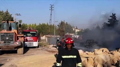GAZİANTEP - Depoda çıkan yangın kontrol altına alındı
