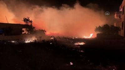 ADIYAMAN - Tarlada başlayıp evlere sıçrayan yangın söndürüldü