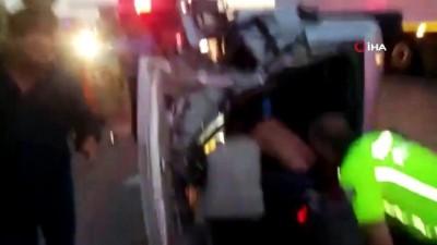 İstanbul-İzmir Otobanı çıkışında feci kaza: 3 yaralı