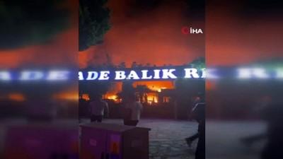 Başakşehir'de iş yerinde çıkıp ormanlık alana sıçrayan yangın söndürüldü