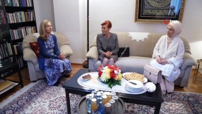 - Emine Erdoğan Saraybosna'da Aliya İzzetbegoviç Vakfı'nı ziyaret etti
