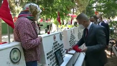 30 Ağustos Zafer Bayramı'nda Gaziantepli şehitler unutulmadı
