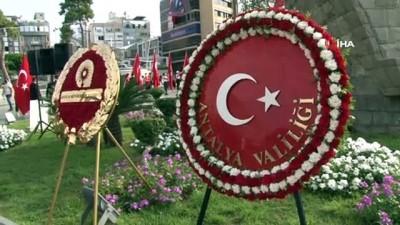 30 Ağustos Zafer Bayramı çelenk ve geçit töreniyle başladı